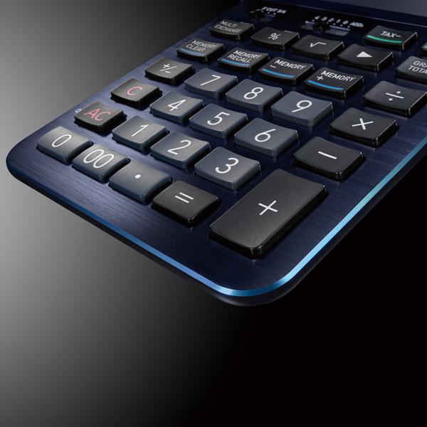 カシオ通販 カシオプレミアム電卓 s100 ネイビーブルー
